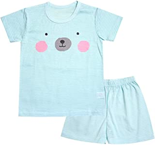 OllCHAENGi Toddler Kids Boys Girls Cotton Pajama Set Short Sleeve 2T-13Y Trailer