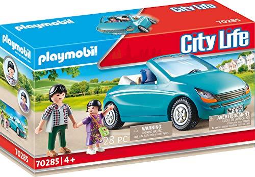 PLAYMOBIL City Life 70285 City Life Playmobil Papa und Kind mit Cabrio, bunt
