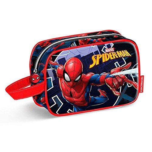 Karactermania Spiderman Hero-Teen Toilettas toilettas, 21 cm, blauw (blauw)