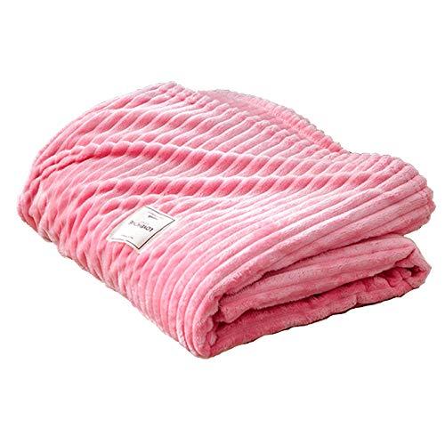 Mantas para Sofa Manta De Microfibra 100% Supersuave - Fácil De Cuidar- Ligera, Cálida, Cómoda Y Duradera,Rosado,200 * 230cm