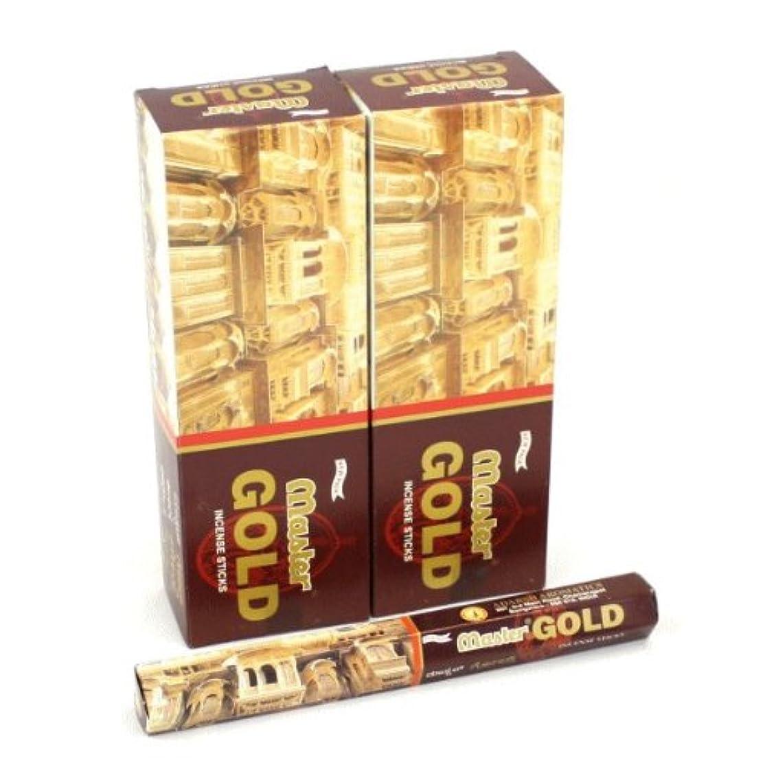 十代の若者たち却下する笑いADARSH マスターゴールド香 スティック ヘキサパック(六角) 12箱セット MASTER GOLD