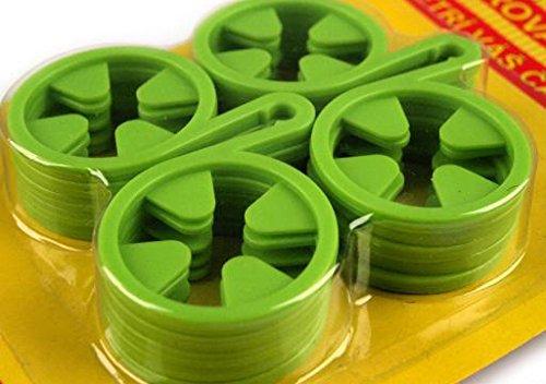 Sockenhalter Sockenclips Sockensortierer Sockenklammer Wäscheklammern Socken (grün)