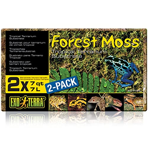 Exo Terra Forest Plume Moss, 7 Quarts, 2-Pack