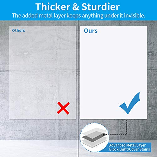 White Board Sticker, White Board Roll, White Board Paper, Dry Erase Contact Paper, Removable and Reusable, PET No Ghost White Board for Wall, Tables, Doors, Chalkboards, 17.3 x 84.3 inch-2 Rolls Photo #3