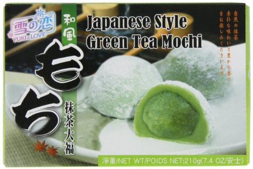 Yuki & Love Mochi japanische Reiskuchen Grüntee, 6er Pack (6 x 210 g)