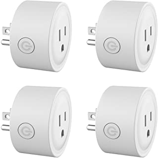 Smart Plug Mini Wireless Smart Socket No Hub Required Wifi Outlet Compatible with Alexa & Timing Function Control your Devices Anywhere 4 PCS (White)