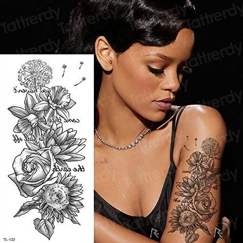 Tattoo für Frauen Kreative Blume Tattoo Sticker Body Art Planeten Tattoo Wasserdichte Langlebige Kinder Tattoo-in Tattoos von TL122