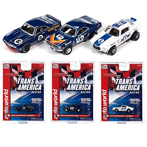 Auto World SC362 Trans Am Racing Thunderjet Ultra-G Electric Slot Car Set of 3