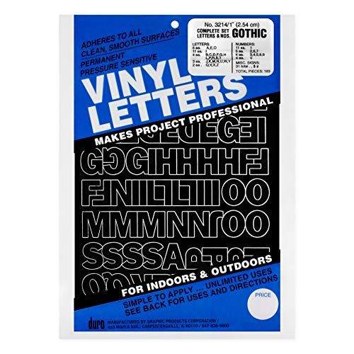 Graphic Products Permanent Adhesive Vinyl Letters & Numbers 1\