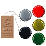 140 Count Beer Bottle Caps Oxygen Absorbing Crowns, Ideal for HomeBrew, 5 Assorted Colors