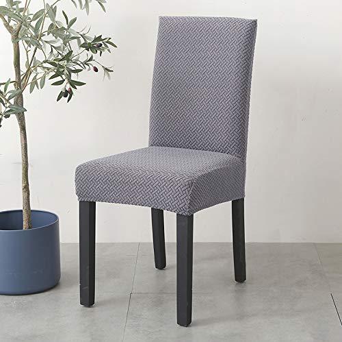 wkd-thvb Fundas de silla de tela brillante de terciopelo de 1/2/4/6 piezas, tamaño universal, para silla elástica, fundas de asiento, fundas para comedor, color plateado