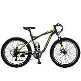 "OBK E7 Mountain Bike 21 Speed Bicycle 27.5"" Full Suspension Mens..."