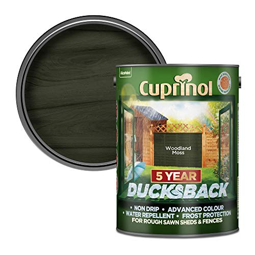 Cuprinol Ducksback 5 Year Waterproof for Sheds and Fences Woodland Moss, 5...