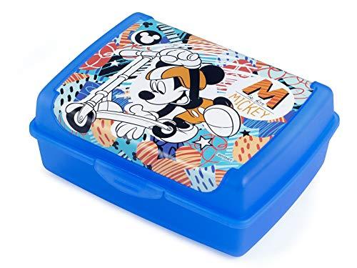 LULABI LULABI DISNEY MICKEY MOUSE URBAN DEPORTE Fiambrera óptima para para el almuerzo de los niños, sandwichera escolar, lonchera infantil,hecha de polipropileno, tamaño 17 x 13 x 6.5 cm, 900