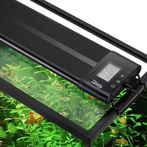 Hygger Auto On Off 18-24 Inch LED Aquarium Light Extendable Dimmable 7 Colors Full Spectrum Light Fixture for Freshwater Planted Tank Build in Timer Sunrise Sunset