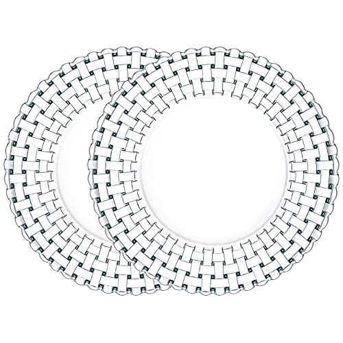 Spiegelau & Nachtmann, 2-er Set Teller gross, Kristallglas, Bossa Nova, Größe: 32 cm, 0093511-0