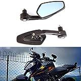 "7/8"" 22mm Negros Espejos de manillar de la motocicleta moto de aluminio universal espejos laterales espejos retrovisores laterales para Scooter Cruiser moto deportiva Chopper"