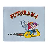 CafePress Futurama Roller-Überwurfdecke 50x60 wei