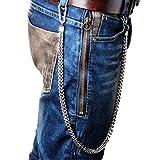 ZOYLINK Cadena De Jeans Para Hombre Cadena De Pantalones Creative Punk Snap Hook Pantalones Cadena...