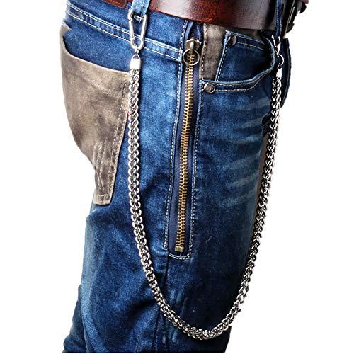 ZOYLINK Cadena De Jeans Para Hombre Cadena De Pantalones Creative Punk Snap Hook Pantalones Cadena Billetera Cadena