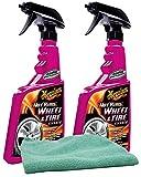 Meguiar's Hot Rims Wheel & Tire Cleaner (24 oz.) Bundle with Microfiber Cloth (3 Items)