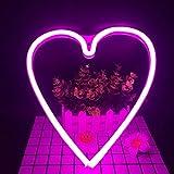 LED Neon Nachtlicht Batteriebetrieben, Wandleuchte Neon Dekoration Lampe Leuchte mit Batterie Box...