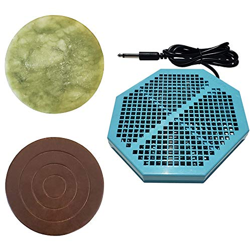 """Cell Spa CS-900 Twice Powerful 6.5"""" x 5.5"""" Ion Detox Foot Bath Arrays With 2"""" Round Jade & 2"""" Round Ceramic Stone Powerful Boost Semi-Conductors of Negative Ions For Detox Machine"""