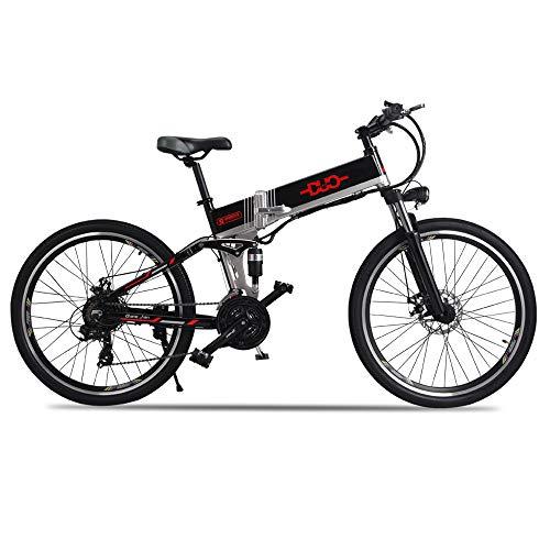 GUNAI Elektrisches Fahrrad 48V 500W Folding Elektrische Fahrrad Herren Mountain Ebike Scheibenbremsen, 21 Gang Shimano Gangschaltung