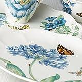 Lenox Speiseteller, Schmetterlingswiese, Blau Dekoteller 13.5″ Height weiß - 2