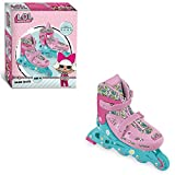 Mondo Toys - Design LOL in Line Skates - Rollers en Ligne réglables - Roues PVC - Roller Enfant/Fille - Taille M / Taille 33/36 - 28563