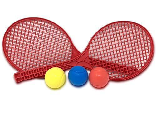 E-Deals Juego de tenis rojo suave con tres pelotas de tenis de...