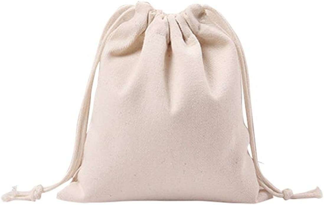 Women Solid White Drawstring free shipping Beam High quality new Canvas Travel Bag Shopping