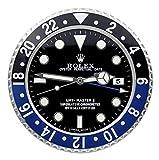 Rolex Horloge Murale Replika Rolex Submariner Hulk Rolex avec Lunette Verte, Batman Bleu, 34 cm