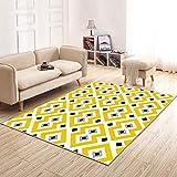Moderno simple rectangular alfombra sala de estar hotel restaurante mesas y sillas mesa de café alfombra tapetes dormitorio alfombra amarillo ( Tamaño : 140cm*200cm )