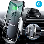 Wireless Charger Auto, PaiTree Automatisches Spannen Kabelloses Auto Ladegerät mit Hülle Qi Ladestation Kabelloses Auto Ladegerät für Samsung Galaxy S10/S10+/S9,Apple iPhone 11 Pro Max/XS/XR/X/8 Plus