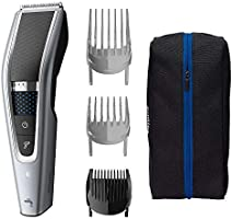 Philips Washable Hair Clipper Series 5000 With 28 Length Settings (0.5-28mm) and 90 Min Cordless Use/1hr Charge, HC5630/15