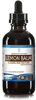 Lemon Balm Tincture Alcohol-Free Liquid Extract, Organic Lemon Balm (Melissa officinalis) Dried Leaf (4 FL OZ)