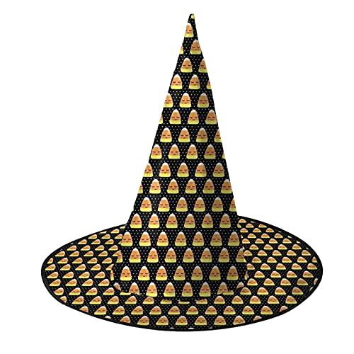 Lindo caramelo maz negro lunares Halloween bruja sombrero nio sombrero sealado sombrero para adulto Cosplay partido adulto nio nios mujeres