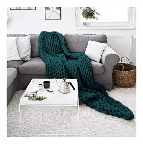 Merino wol garen arm breien gooien grof gebreide wollen deken als sprei Grof gebreid wollen deken pluizig zacht knuffeldeken voor huisdier bed stoel sofa yoga mat tapijt