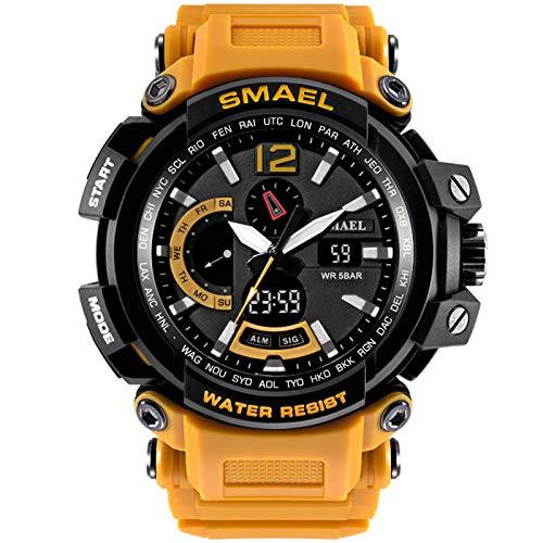 JTTM Military Herrenuhr Digitale Army Watch laufende Sport-Uhren wasserdichte Uhr Herren-Armbanduhr,Orange