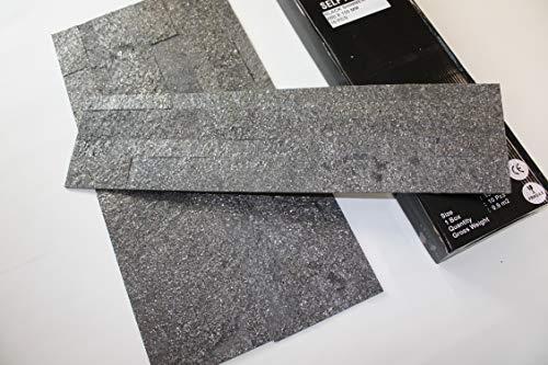 ECHT-STEIN Schiefer Wandverblender Wandsteine Riemchen 3D Paneel ultraleicht Klinker