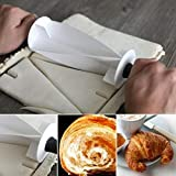ALEXTREME Croissant Cutter Roller, Pastry Cutter, Donut Cutter, Croissant Maker Stainless Steel Roller Slices, Multi-Function Bread Slicer Roller Croissant Cutter DIY Baking Tool for Kitchen