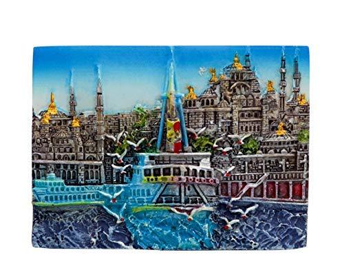 zamonji Istanbul, Türkei 3D Harz Kühlschrankmagnet Süleymaniye Mosque 3D starker Kühlschrank Magnet Souvenir Tourist Geschenk