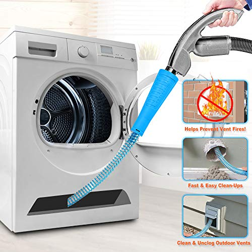 commercial Dryer Air Vent Cleaner Kit Vacuum Hose Attachment Lint Brush Washing Machine Washing Machine and Dryer Air Vent … dryer vent hose
