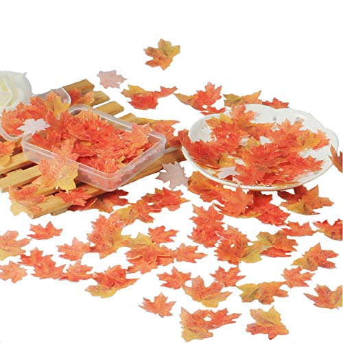 36 pcs Edible Fall Leaves Gold Leaf Cake topper maple leaves cake fall Decorations,edible gold leaf cupcake topper fall sprinkles