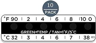 (10 Pack) Temperature Strips for Urine Drug Testing,Measurement Range: 32°C-38°C(not Used as Body Temperature Measuring)