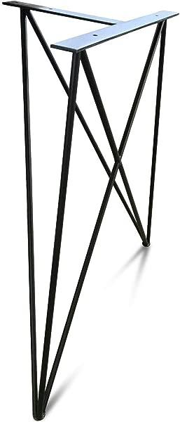 钢锻造发夹腿餐桌或书桌