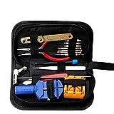 YGLONG Herramientas Relojero Watchmaker Watch Repair Tool Kit Watch Link Pin Remover Funda Funda Barra de Resorte Reparación Set Kit Relojero (Color : 16 Pieces)