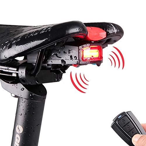 Fahrrad-Rücklicht USB-Ladegerät, Mountainbike-Licht Kabellose, intelligente Fernbedienung Diebstahlwarnanlage Alarmhupe Licht geeignet für Fahrradbeleuchtung im Freien