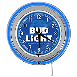 Redeye Laserworks Bud Light 15 Blue Double Neon Garage Clock from